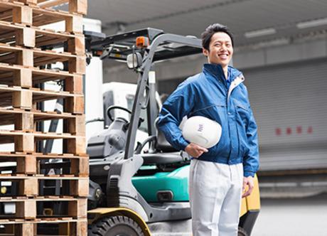 100%正社員雇用!フォークリフト資格があれば月給22万円以上可能!40代50代も歓迎します